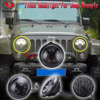 wranglerr unlimited jk 4 door 7inch round led jeep 75w / 90w front bumper led light with semi
