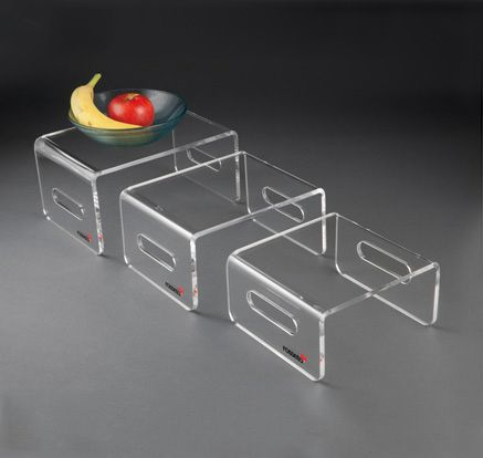 Cheap acrylic material riser,food display risers,glass risers