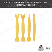 4pcs Nylon Pry Bar Set Car Radio Door Clip Panel Trim Dash Audio Removal Pry Tool Kit(VT01291)