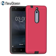 Shockproof Mobile Phone Hybird Armor Rugged Case Cover for Nokia 5 for iPhone X 7 8 Plus