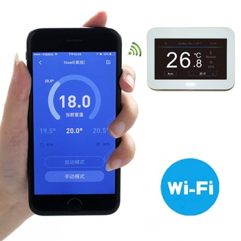 New design electrical floor heating mat programmable wifi thermostat with app iphone android