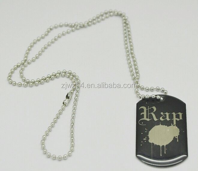 polished blank dog tag