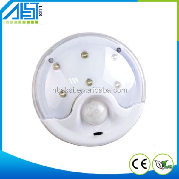 6led automatic cheap PIR sensor lighting led night light sensor
