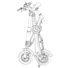 foldable electric scooter FOLDING ELECTRIC SCOOTER SHENZHEN FACTORY