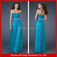 OC-2048 Sweetheart neckline tulle overlay cheap long evening dresses new long party evening dresses korea evening