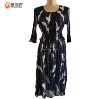 2017 trendy clothing Women casual one piece new design fancy maxi dress