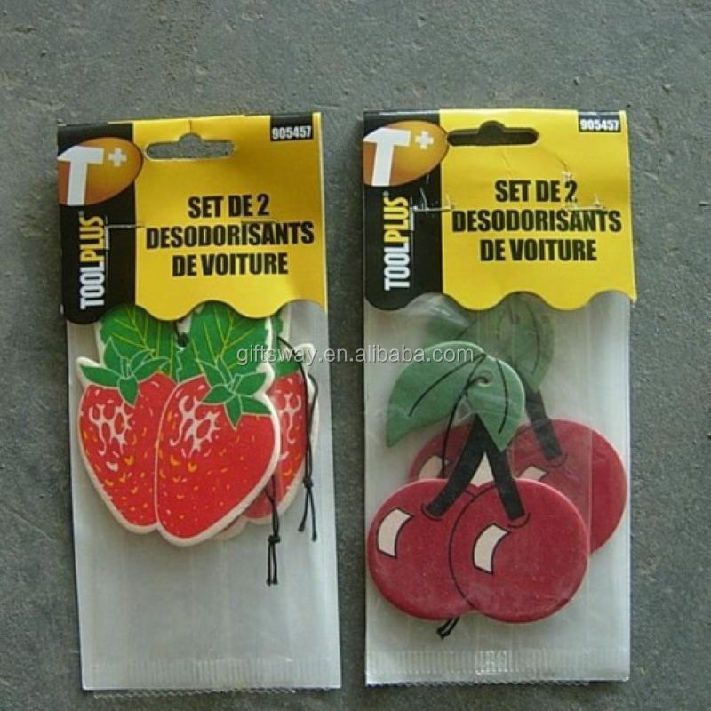 Made in China factory customized make hanging paper car air freshener