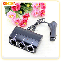 Dragging three car cigarette lighter car charger usb cigarette lighter plug socket with a sub-3 splitter dragged three lighters