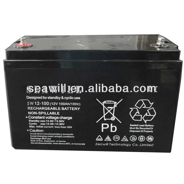 Solar gel Deep cycle battery 12v 100Ah for solar system
