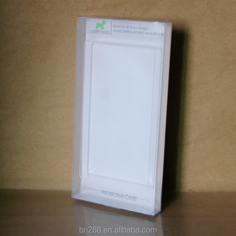 Phone case packaging plastic box with clear blister