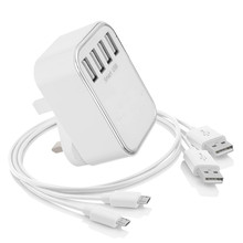 5V 4.5A KYT-804 3 PIN HI-SPEED 3 PORT USB WALL TRAVEL HOME CHARGER MULTIPLE MOBILE PHONE BATTERY CHARGER