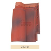 13mm kerala fiberglass clay roof tile prices with 4-5% Water Absorption