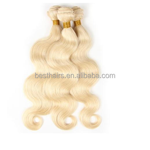 Wholesale best quality body wavy blonde color 613 color mink brazilian hair 7a virgin brazilian hair <strong>weave</strong>