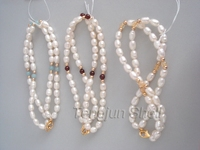 white color Chinese freshwater pearl bracelet