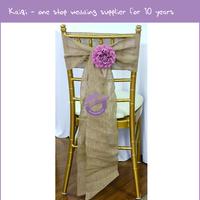 #19138 wholesale hessian chair hood and wedding chair sash for chair