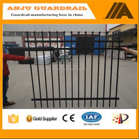 DK035 High Security Fence / steel palisade fence / powder coated palisade fencing