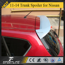 ABS auto trunk boot spoiler For Nissa n 2011-2014 new Tiida II hatchback