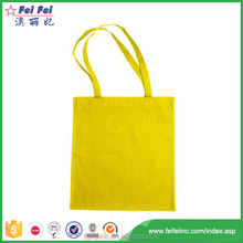 Recyclable Material Yellow Canvas Tote Bag