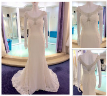 Ladies Lace Sleelveless Floor Length Custom Made Formal Bridal Gowns Design Robe De Mariee Wedding Dress Mermaid A184