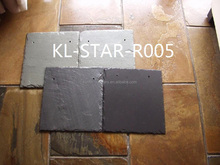 Famous Natural Black Slate Roof Tile Stone 20X20/30X30