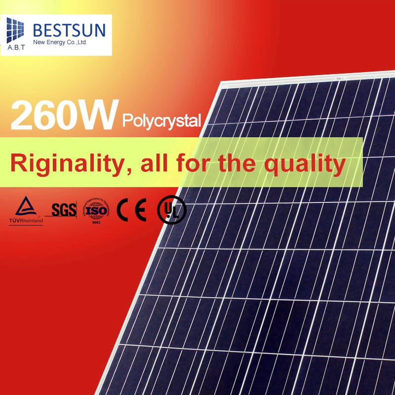Bestsun Poly Transparent Photovoltaic 265W/250w Thin Film