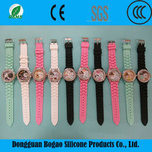 2015 factory custom made silicone watch accessories and discount watches