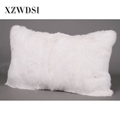 CX-D-68B Unique Cute Back Real Fur Pillow Cushion For Bed