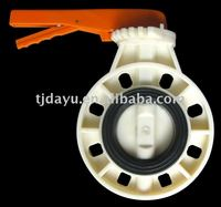 ABS plastic manual butterfly valve EPDM seat SS304 shaft