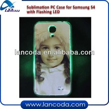 sublimation LED flashing case for Samsung S4