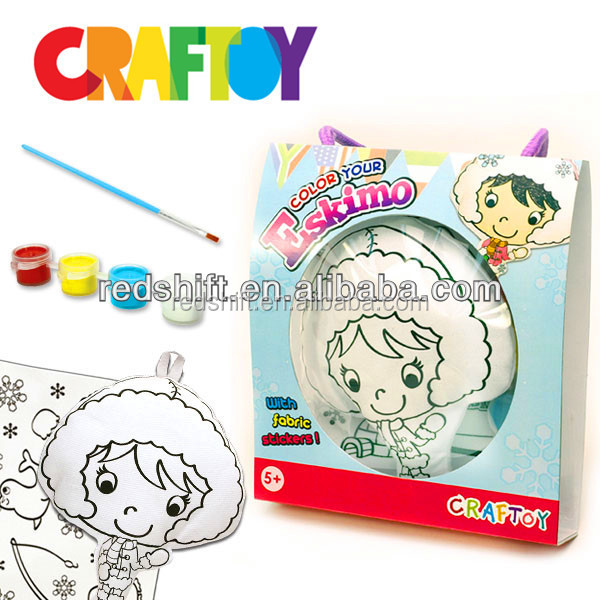 Color your Culture Doll Charm Make your own doll diy toy coloring kit