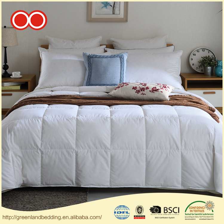 100% Cotton Comforter Luxury Alternative Quilt Comforter Washed White Goose Down Duvet