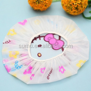 customized shower cap pink purple/pvc shower cap custom / plastic shower cap
