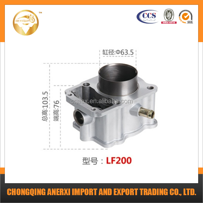 63.5mm Water Cooling 200cc Motorcycle Cylinder for LF200