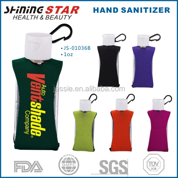 2oz hand sanitizer with neoprene holder