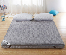 nice designs flannel 100% polyester filling bed topper matress