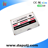 White Black Color Tape Cassette Usb Customized With Sticker Cassette Case Bulk Cheap