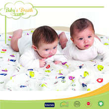 MS290 custom baby muslin swaddle organic interlock cotton blanket children, children swaddle blanket