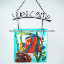 Welcome fish stained glass hanging decoration