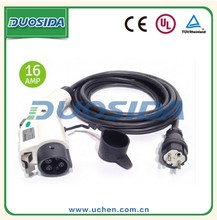 Dostar 16a 32a good performance ev evse j1772 cable with schuko plug