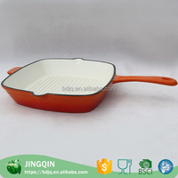 high quality golden ceramic fry pan oval fry pan