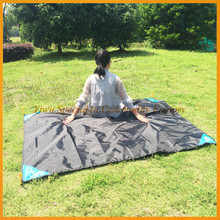 Family used fold up black picnic blanket cheap wholesale camping blanket SPBB-054