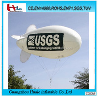 Factory PVC inflatable airship for advertisment,inflatable blimp with lopo printing