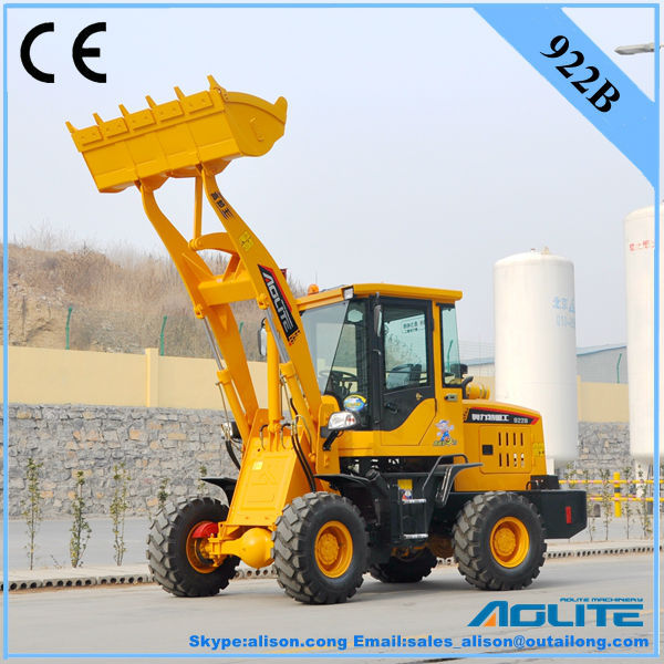 AOLITE 922B mini wheel loader with snow plow have ce certification