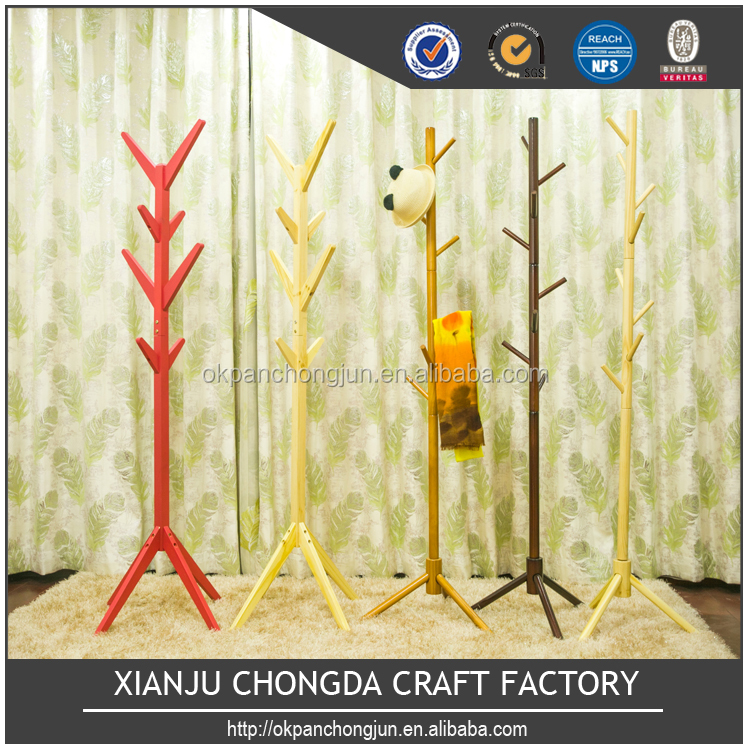 Professional factory supply modern wood tree shaped coat rack for sale