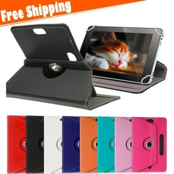 "Universal 9"" inch Tablet Case 360 Rotate Leather Stand Case Cover for 9 Inch Tab Protective Case"