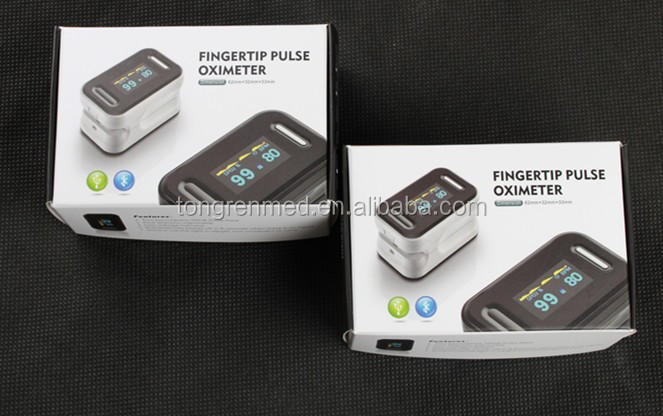 finger pulse oximeter with beep sound alarm and can add Bluetooth