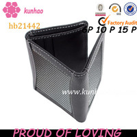 Manufacture tri-folder carbon fiber wallet