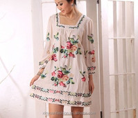 Ladies Leisure cotton embroider dress, casual girls cotton masakali dress