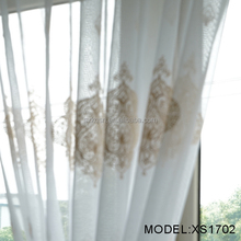China supplier shower embroidered polyester curtains sheer curtain