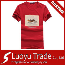 2014 High Quality Red Tee Shirt Polyester